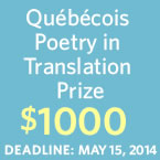 Quebecois Poetry in Translation Prize